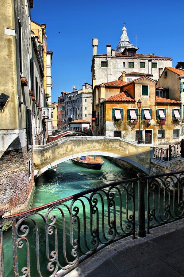 Venezia-oude mening royalty-vrije stock foto's