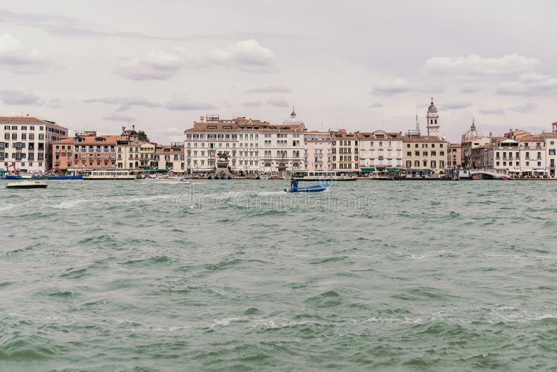 Venezia port royaltyfria bilder