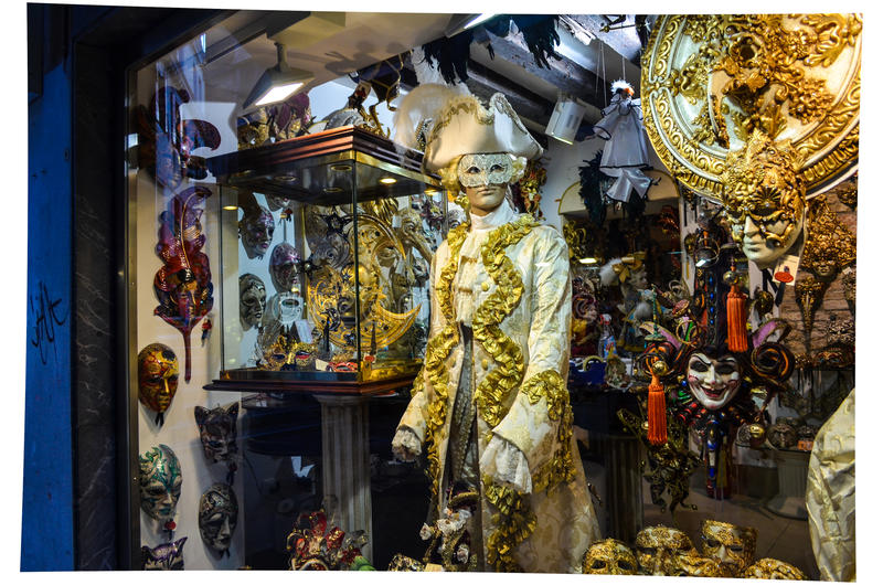 Venezia su carnibal immagine stock