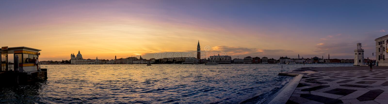 Venezia sunset views from San Giorgio Maggiore. royalty free stock photography