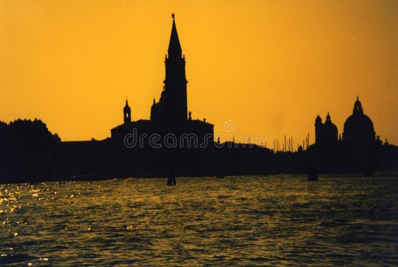 Venezia - Tramonto royalty-vrije stock afbeelding