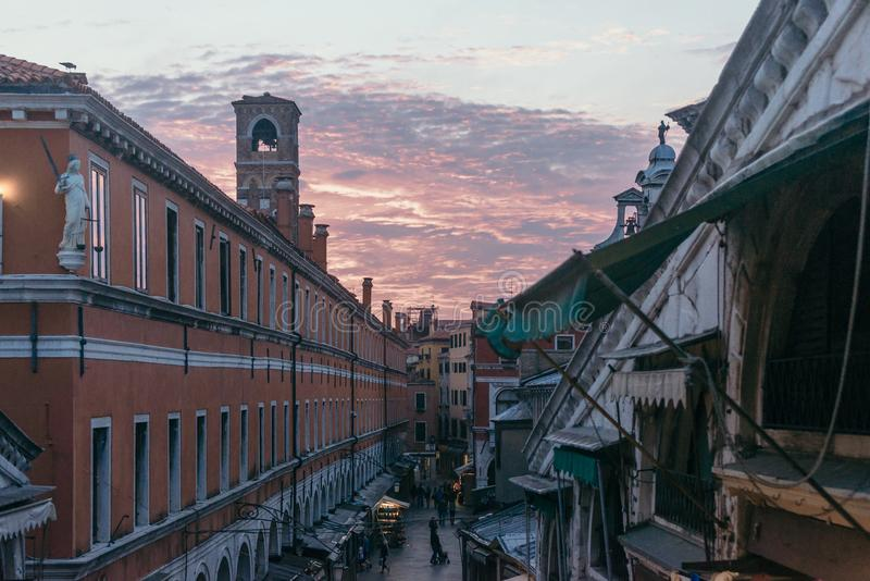 Venezia zmierzch obrazy stock
