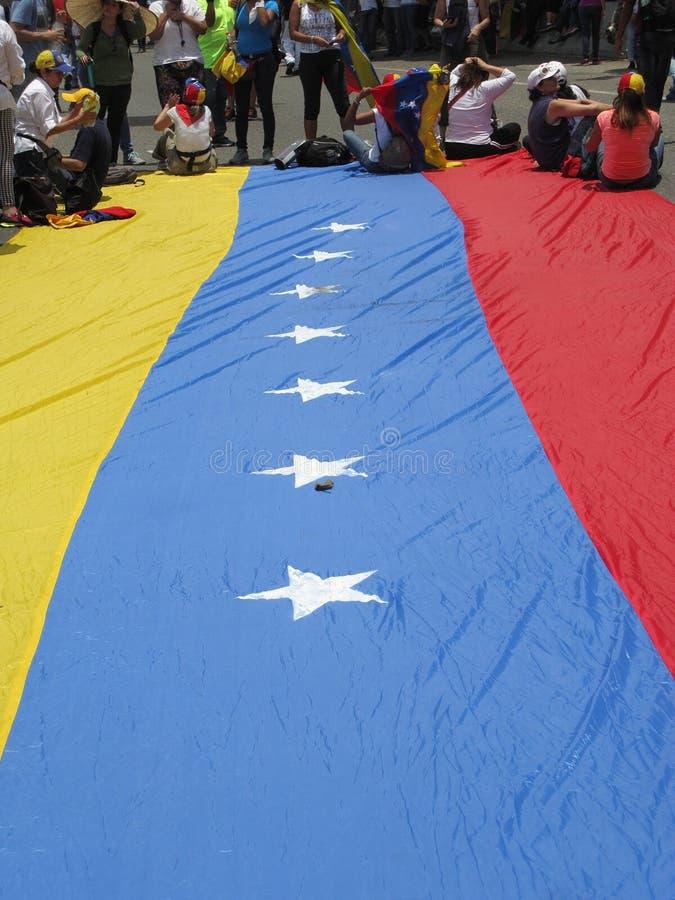 2017 Venezolaan protesteert zitten-binnen activiteit geroepen Gr Plantazo stock fotografie