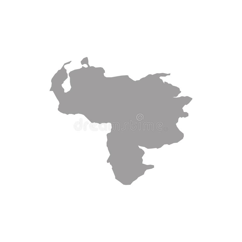 Venezuela översiktsvektor / Venezuela översikt vektor illustrationer
