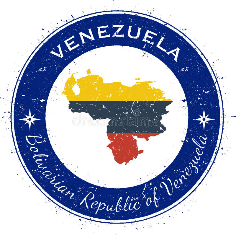 Venezuela Bolivarian republik av cirkuläret royaltyfri illustrationer