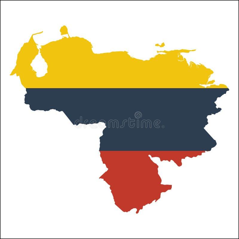 Venezuela Bolivarian republik av hög upplösning vektor illustrationer