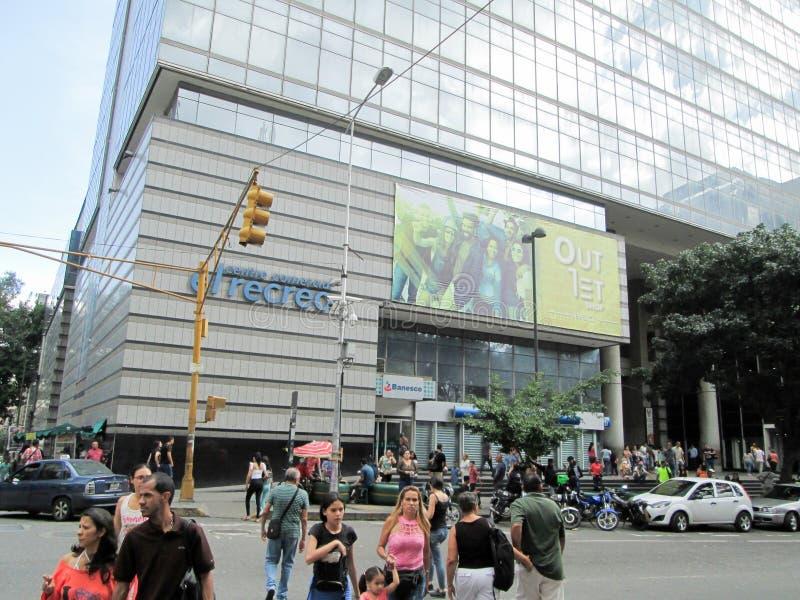 Venezuela, Caracas. Iconic shopping center of the city of Caracas, El Recreo Shopping Center, near the Boulevard de Sabana Grande.  royalty free stock image