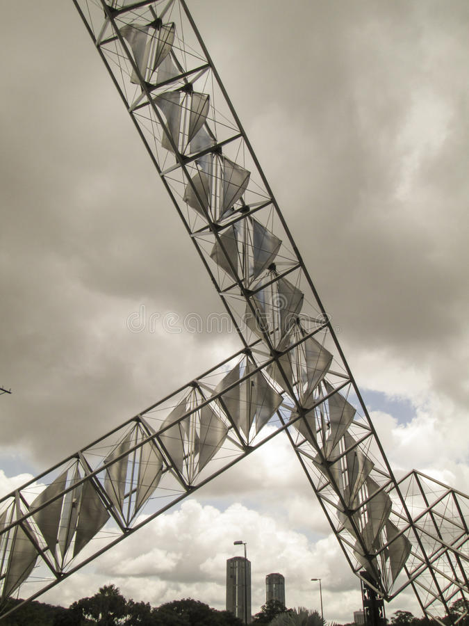 Venezuela Caracas Sculpture Abra Solar Alejandro Otero Plaza Venezuela stock images