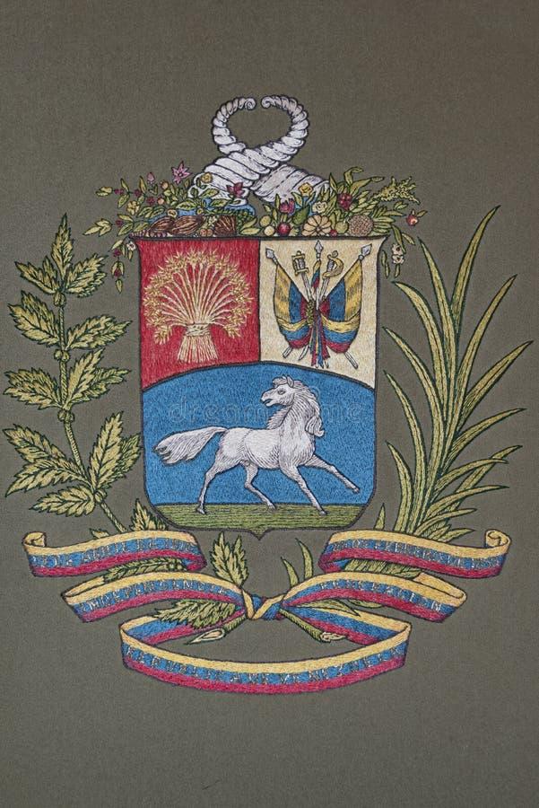 Venezuela coat of arms stock illustration