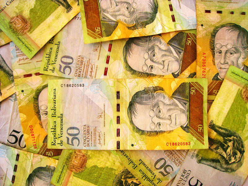Venezuela Currency royalty free stock photo