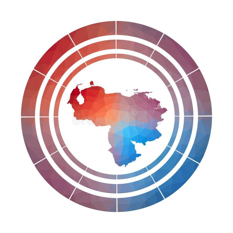 Venezuela emblem vektor illustrationer