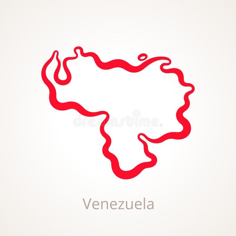 Venezuela - Entwurfs-Karte stock abbildung