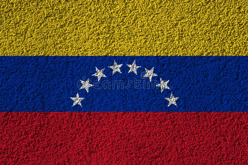 Venezuela flag on the background texture. Concept for designer solutions.  royalty free stock image