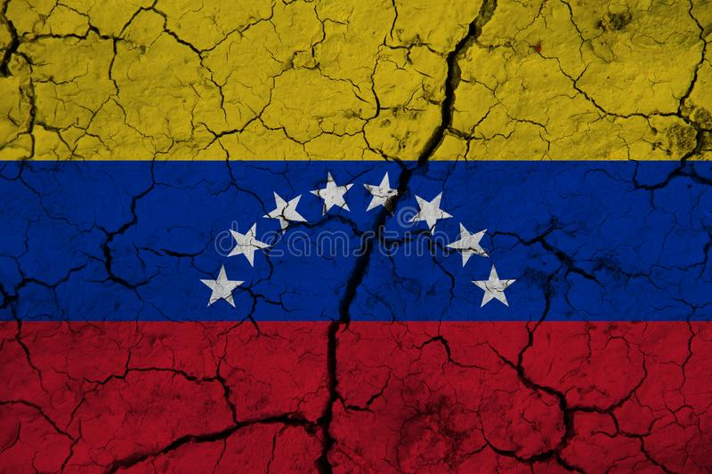 Venezuela flag on the background texture. Concept for designer solutions.  stock images