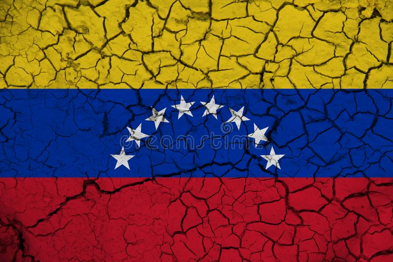 Venezuela flag on the background texture. Concept for designer solutions.  royalty free stock images