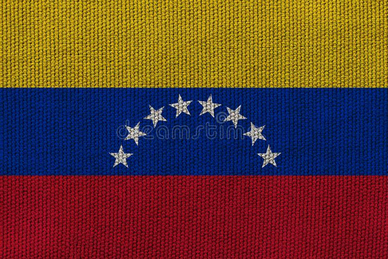 Venezuela flag on the background texture. Concept for designer solutions.  stock photography