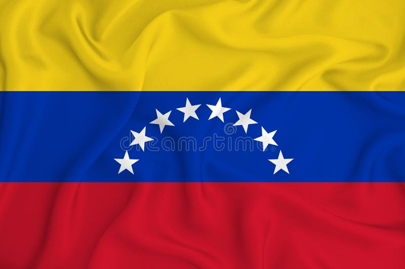 Venezuela flag on the background texture. Concept for designer solutions.  royalty free stock photos