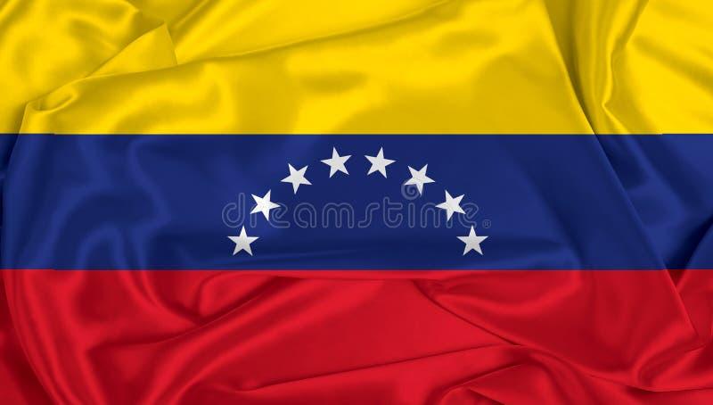 Silk Venezuela Flag. A Venezuela flag with silk texture stock image