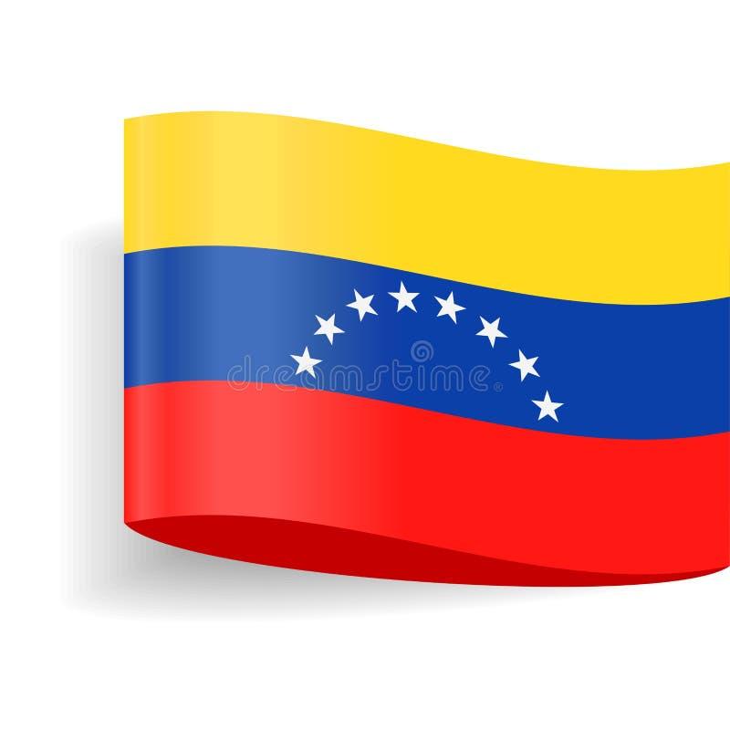Venezuela Flag Vector Label Tag Icon royalty free illustration
