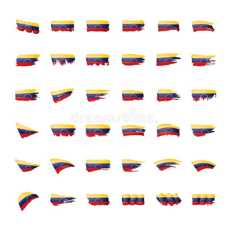 Venezuela flag, vector illustration on a white background. vector illustration