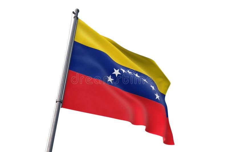 Venezuela flag waving isolated white background 3D illustration royalty free illustration