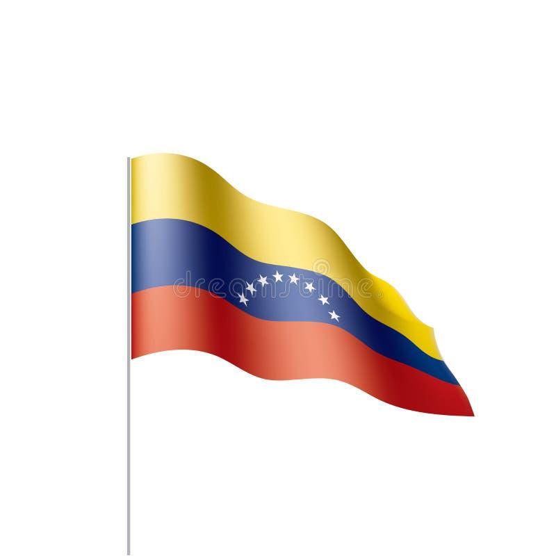 Venezuela flagga, vektorillustration stock illustrationer