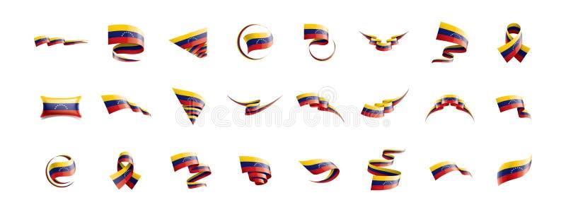 Venezuela flagga, vektorillustration på en vit bakgrund royaltyfri illustrationer