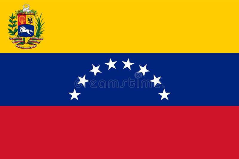 Venezuela flaggatillstånd och krigvariant royaltyfri illustrationer