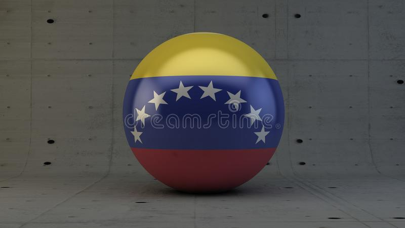 Venezuela-Flaggenbereichikone im konkreten Raum vektor abbildung