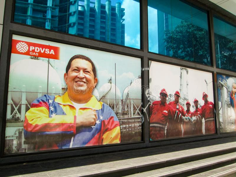 Venezuela.Iconic state gas company of the Bolivarian Republic of Venezuela, PDVSA GAS, which is part of the PDVSA oil company. Caracas, Venezuela.Iconic state stock photography