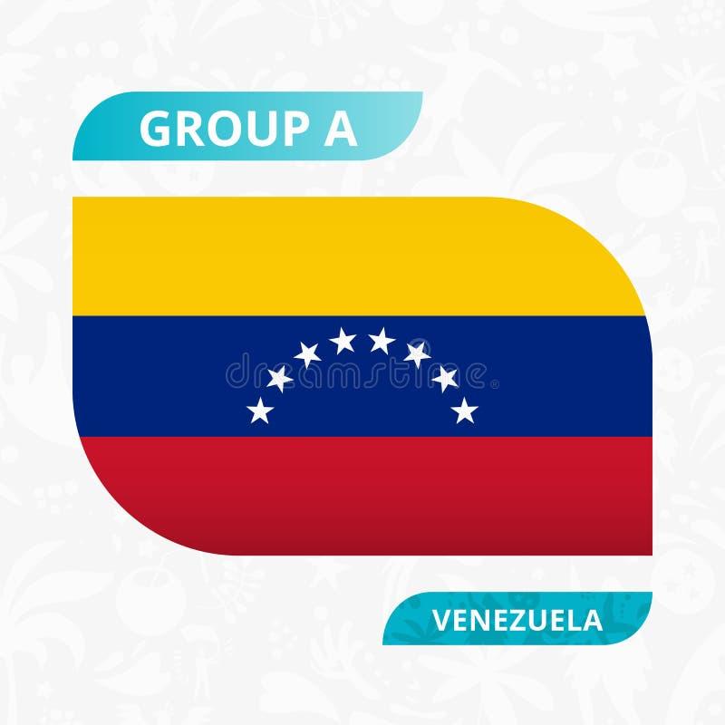 Venezuela lagflagga som göras i fotbollkonkurrensstil vektor illustrationer