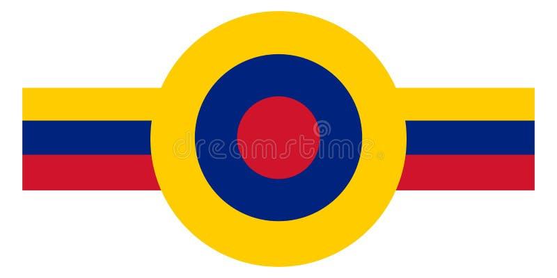 Venezuela landsroundel stock illustrationer