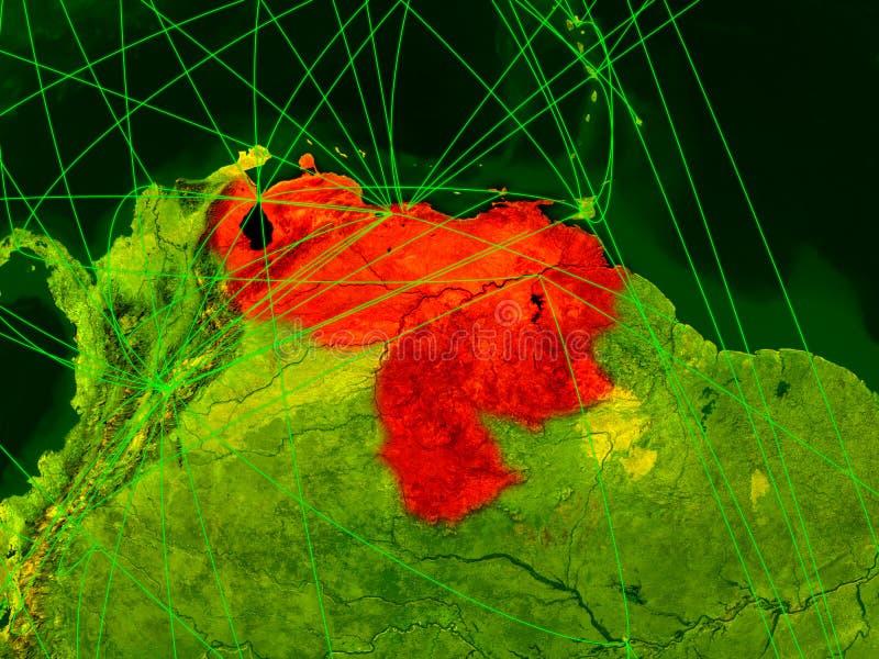 Venezuela no mapa digital ilustração do vetor