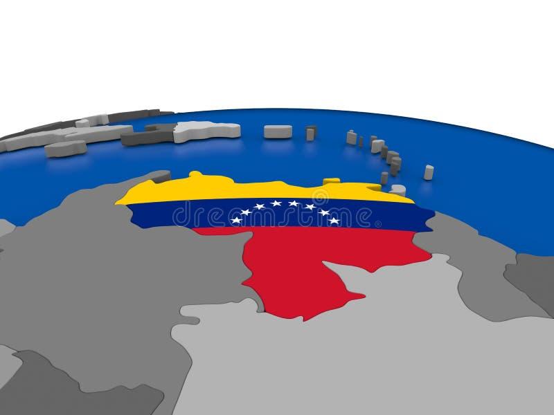 Venezuela på jordklotet 3D vektor illustrationer