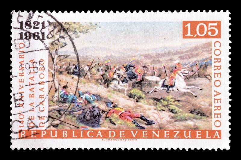 Venezuela på portostämplar royaltyfri bild