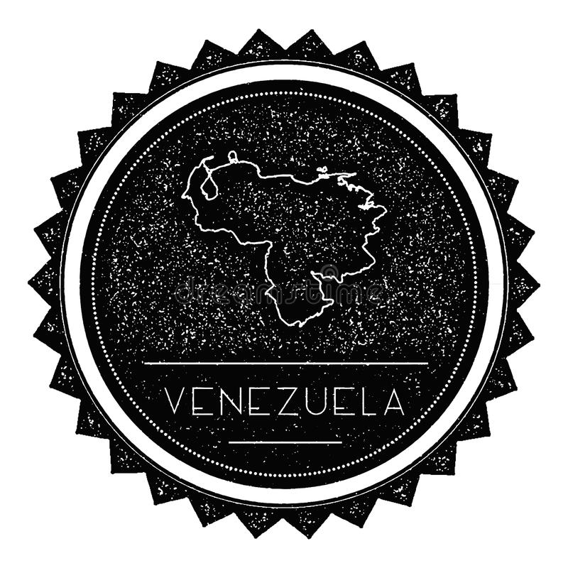Venezuela, república de Bolivarian de la etiqueta del mapa con libre illustration