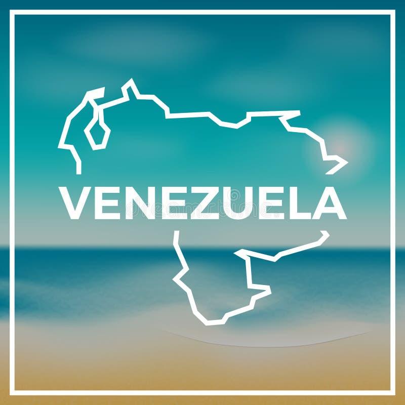 Venezuela, república de Bolivarian del mapa áspera stock de ilustración