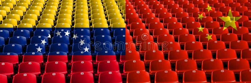 Venezuela, Venezuelan, China, Chinese first round group A basketball world championship competition games.  royalty free illustration