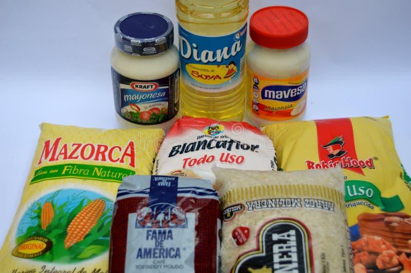 Venezuelan food products. stock photo