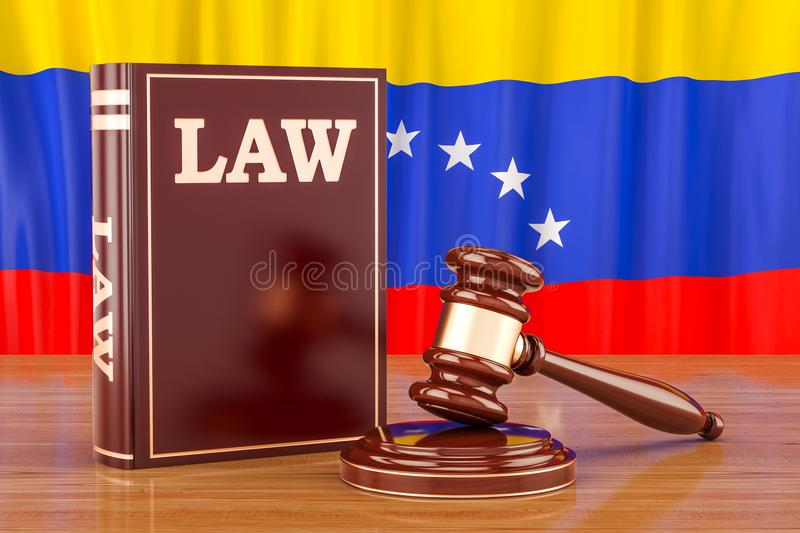 Venezuelan law and justice concept, 3D rendering royalty free illustration