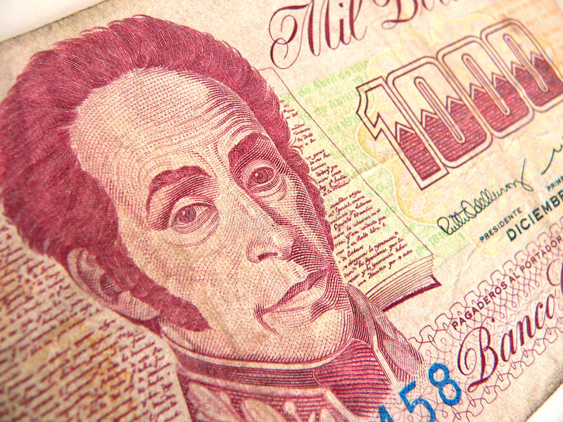 Venezuelan Money royalty free stock photography