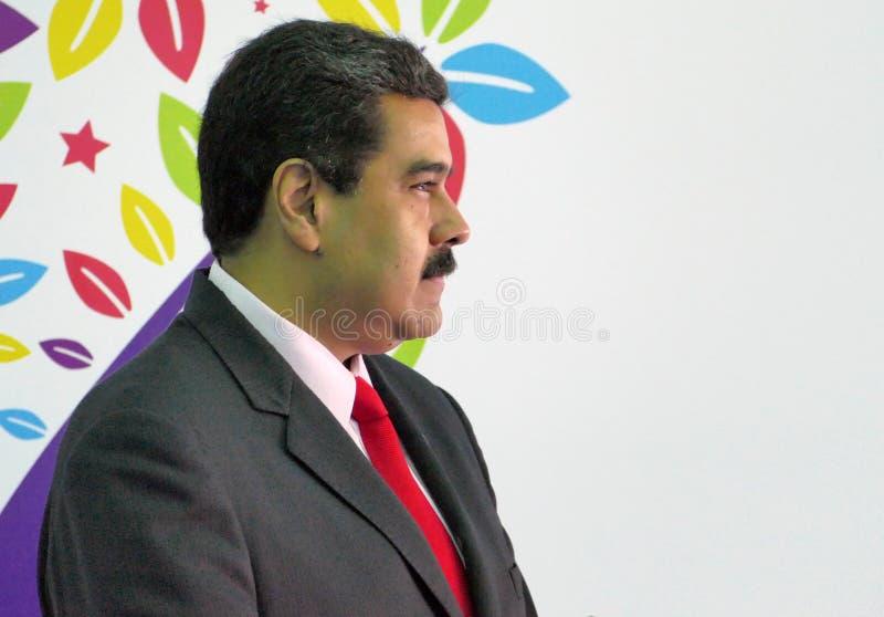 Venezuelan President Nicolas Maduro stock photo