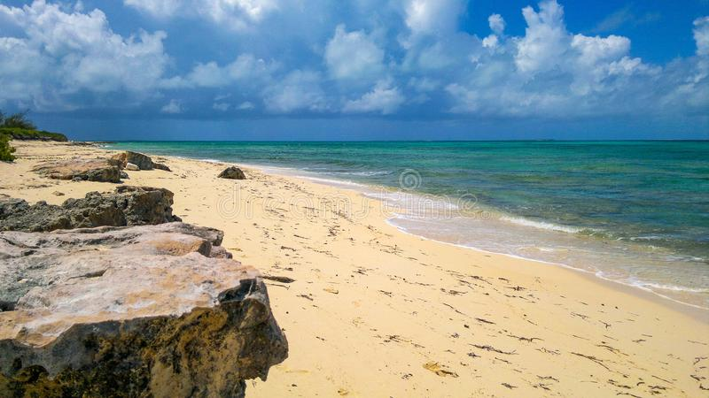Venezuelan Stunning coastline in all its splendor. This is a coastal photo taken in one of the most beautiful beaches of venezuela, in the hottest moments of the stock photography