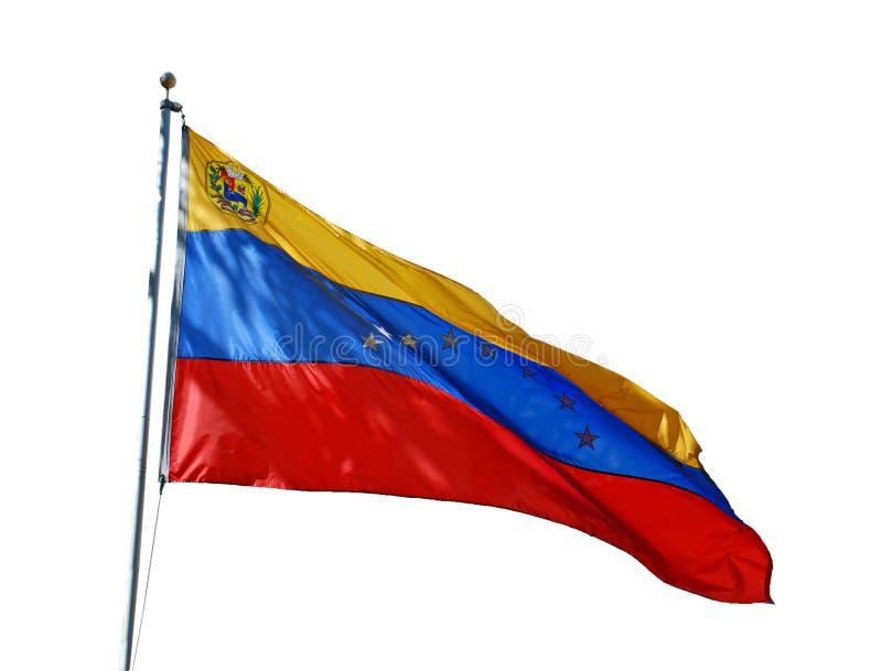 Venezuelansk nationsflagga royaltyfria foton
