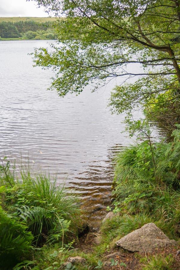Venfordreservoir in het Nationale Park van Dartmoor royalty-vrije stock afbeeldingen
