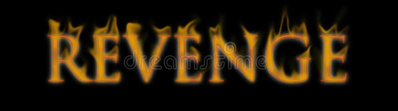 Vengez-vous le mot des textes écrit et brûlant sur l'incendie illustration stock