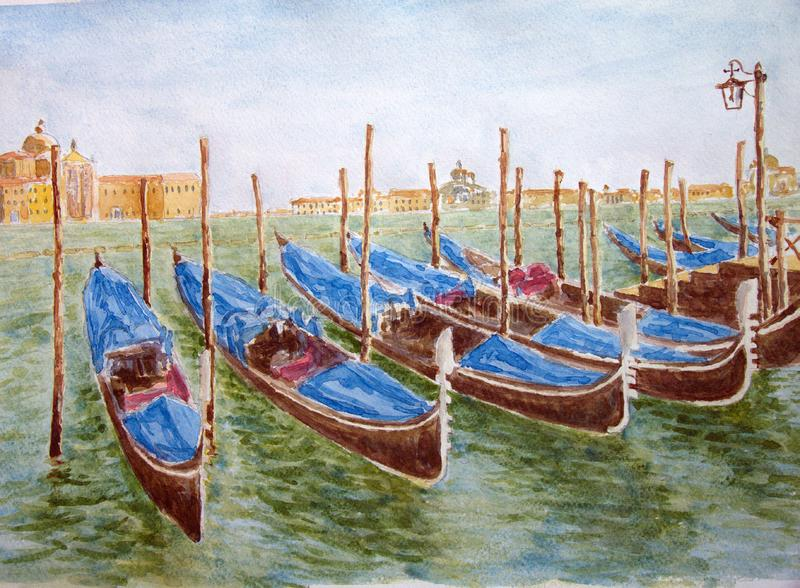 Download Venice stock illustration. Illustration of italy, painted - 15007582