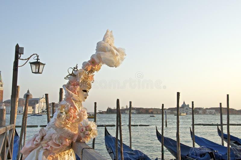Venice 2012 carnival mask in San Marco stock photo