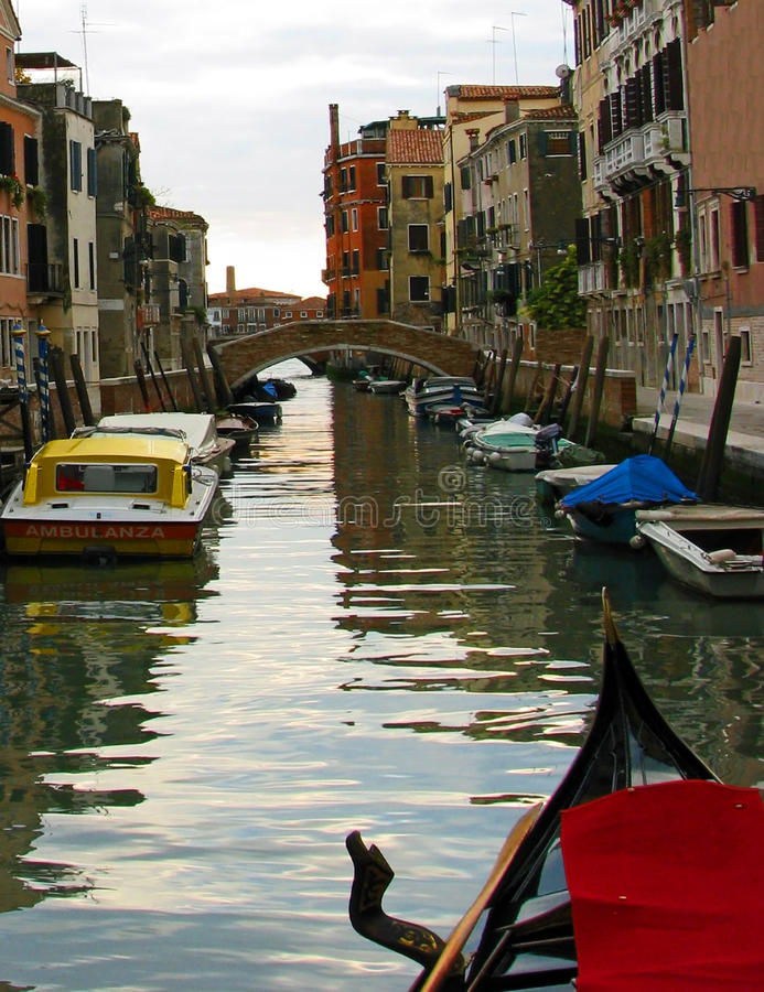 Download Venice Back Canal Scene stock photo. Image of venetian - 12415628