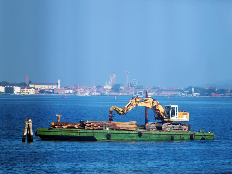Venice - barge royalty free stock photography